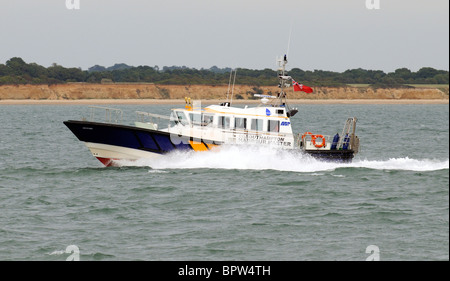 Southampton Harbour Master patrol boat Spitfire underway on Southampton Water southern England UK - Stock Photo
