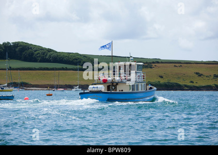 Ferry boat on the River Fal between St Mawes and Falmouth - Stock Photo