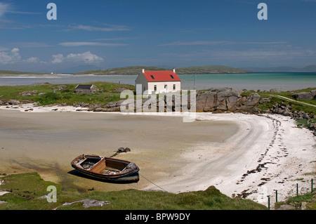 Crannag at Traig Mhor Cockleshell beach Isle of Barra, Outer Hebrides Western Isles. Scotland.  SCO 6536 - Stock Photo