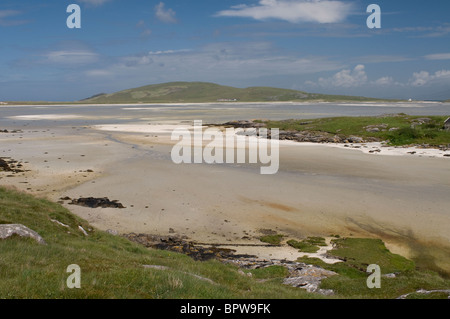 Crannag at Traig Mhor Cockleshell beach Isle of Barra, Outer Hebrides Western Isles. Scotland. SCO 6537 - Stock Photo