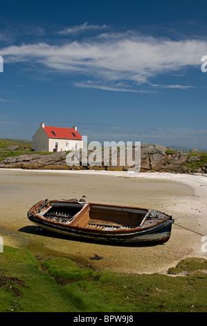 Crannag at Traig Mhor beach Isle of Barra, Outer Hebrides Western Isles. Scotland.   SCO 6538 - Stock Photo