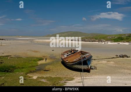 Crannag at Traig Mhor beach Isle of Barra, Outer Hebrides Western Isles. Scotland.  SCO 6544 - Stock Photo