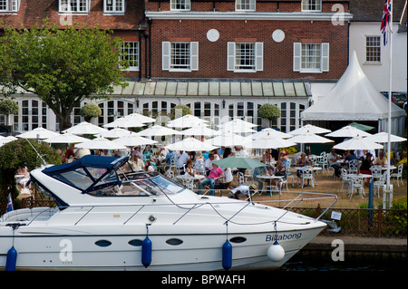 The Compleat Angler by Thames River, Marlow , Buckinghamshire, England, United Kingdom - Stock Photo