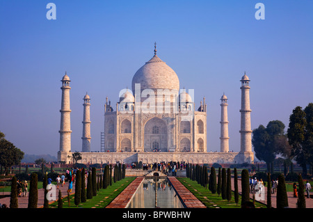 The Taj Mahal, Agra, Uttar Pradesh, India - Stock Photo