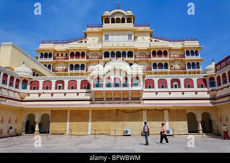 The royal residence at the City Palace, Jaipur, Rajasthan, India - Stock Photo