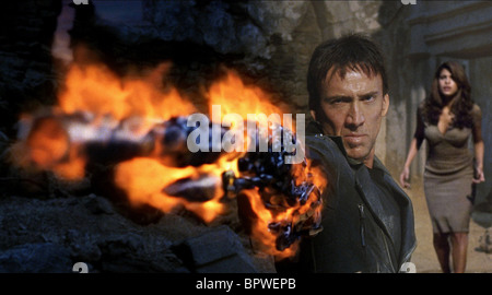 NICOLAS CAGE & EVA MENDES GHOST RIDER (2007) - Stock Photo