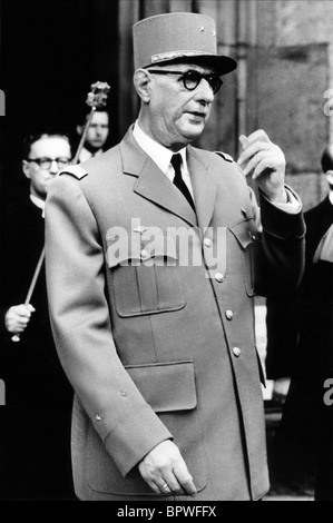 CHARLES DE GAULLE PRESIDENT OF FRENCH REPUBLIC 01 June 1960 - Stock Photo