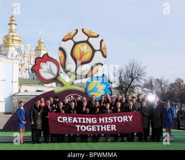 Presentation of Euro 2012 logo in Kiev - Stock Photo