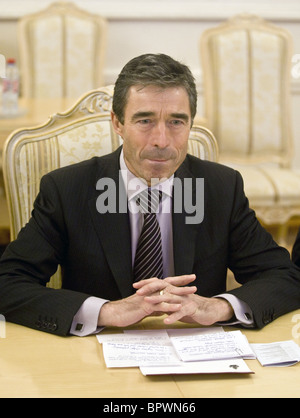 NATO chief Rasmussen visits Moscow - Stock Photo