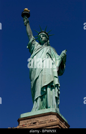 statue of liberty New York NY historical landmark given to America by the French to mark their independence. 04th - Stock Photo