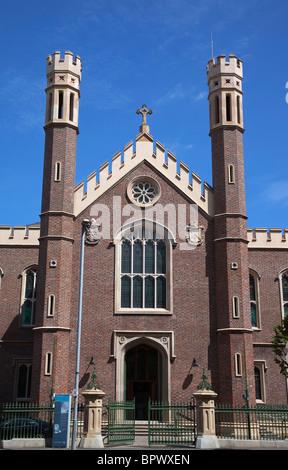 Ireland, North, Belfast, Markets Area, St Malachy's Catholic Church exterior, restored in 2010. - Stock Photo