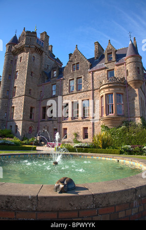 Ireland, North, County Antrim, Belfast Castle with ornate gardens and grounds over looking the city and Lough. - Stock Photo