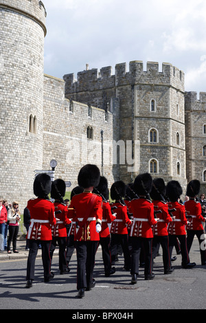 Changing of the Guard at Windsor Castle in summer - Stock Photo