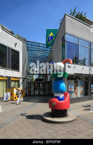 D-Dormagen, Rhine, Lower Rhine, North Rhine-Westphalia, city hall arcade, shopping mall - Stock Photo