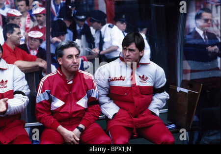Kenny Dalglish and Roy Evans The 1989 FA Cup semi final replay between Liverpool and Nottingham Forest following - Stock Photo