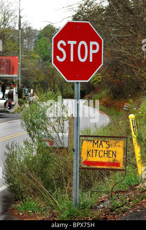 along the Great Smoky Arts and Crafts Community 8 mile loop Gatlinburg Tennessee - Stock Photo