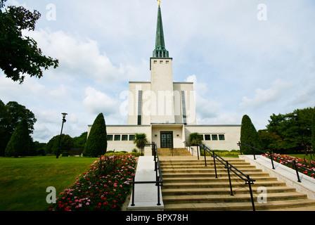 Mormon London Temple Church Of The Latter Day Saints Newchapel Surrey England - Stock Photo