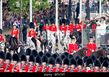 Royal Procession - Rows 12 to 17. 'Trooping the Colour' 2010 - Stock Photo
