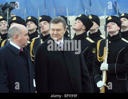 Ukrainian president visits Russia - Stock Photo