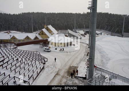 Nordic Ski Centre in Khanty-Mansiysk under reconstruction - Stock Photo