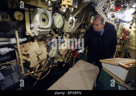 First private submarine museum opens in St Petersburg - Stock Photo