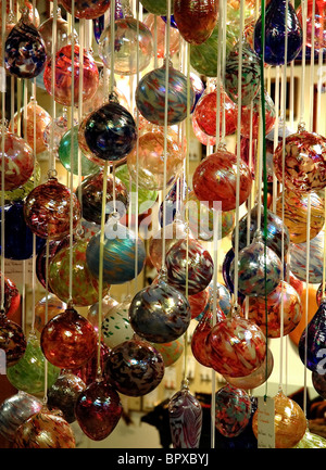 Christmas decorations for sale along the Great Smoky Arts & Crafts Community, 8 mile loop, Gatlinburg, Tennessee - Stock Photo