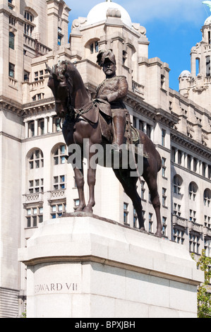 Statue Of King Edward Vii In Sheffield South Yorkshire