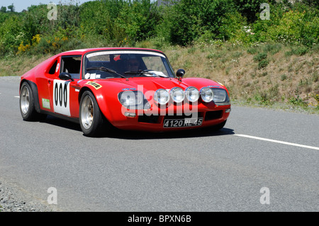 jide 1600 coupe 1991 in the tour de bretagne classic car rally stock photo royalty free image. Black Bedroom Furniture Sets. Home Design Ideas