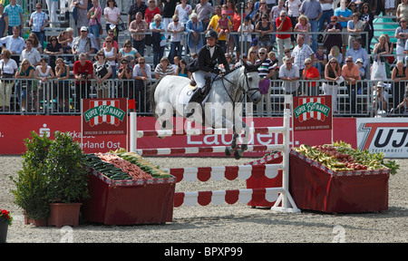 equestrian sports, German championships jumping and dressage 2010 in Muenster, Muensterland, North Rhine-Westphalia, - Stock Photo
