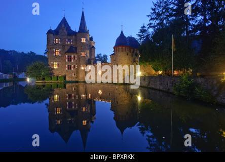 Satzvey Castle in the Eifel Mountains - Stock Photo