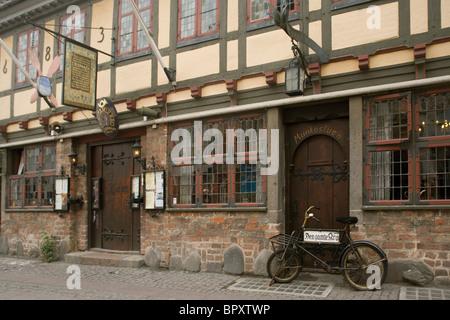 Denmark Funen Odense Inn in old town - Stock Photo