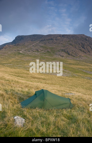 Wild camping next to Scafell Pike, Lake District, Cumbria - Stock Photo