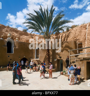 Underground Hotel at Matmata (location for the filming of Star Wars), Tunisia, North Africa - Stock Photo