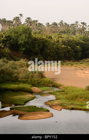 the Gambia river, Parc National de Niokolo-Koba, Senegal - Stock Photo