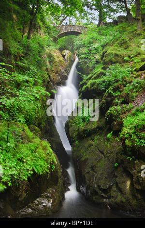 Aira Falls, Lake District, England - Stock Photo