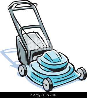 An illustration of a lawn mower