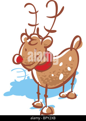 Rudolph the red-nosed reindeer - Stock Photo