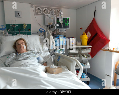 Elderly Patient On Ventilator