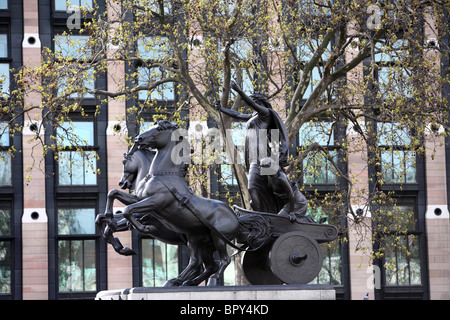 The Queen Boudica monument next to Westminster Bridge, Embankment, Westminster, London, SW1. - Stock Photo
