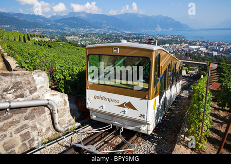 Funicular over Vevey, Switzerland - Stock Photo