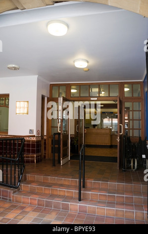 Westminster Health, hospital entrance with view of reception, Victoria, London, England, UK, Europe, EU - Stock Photo