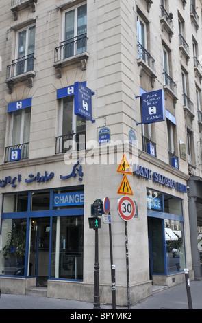 Bank Sadera Iran, rue de la Paix, Paris, France - Stock Photo