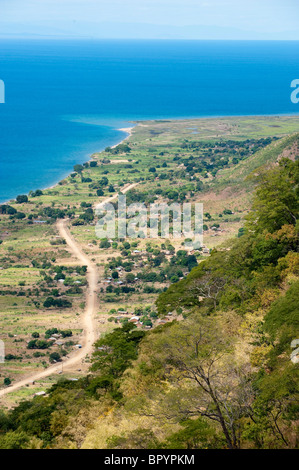 View over lake Malawi in Northern Malawi - Stock Photo
