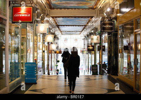 Piccadilly Arcade, shopping arcade, Birmingham, West Midlands, England, UK - Stock Photo