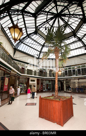 UK, England, Merseyside, Southport, Lord Street, Wayfarers Arcade Victorian indoor shopping area - Stock Photo