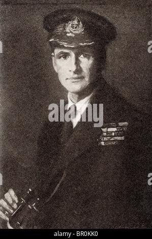 Admiral Edward Ratcliffe Garth Russell Evans, 1st Baron Mountevans, 1881 to 1957 aka Teddy Evans.  British naval - Stock Photo