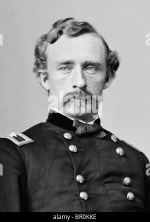 Portrait c1860s of Major-General George Armstrong Custer (1839 - 1876) - famously killed in the Battle of the Little Bighorn.
