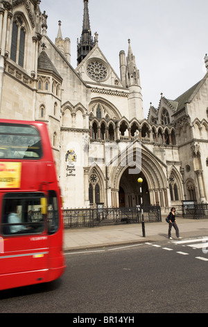 Royal Courts of Justice, London - Stock Photo