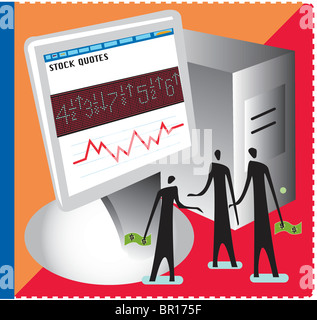An illustration of the online trading - Stock Photo