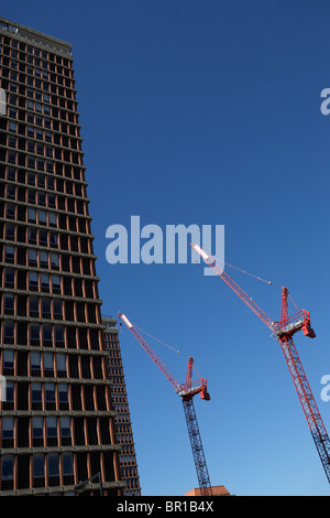 Construction on a building in Boston. - Stock Photo